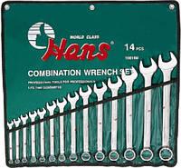 Набор ключей комбинированные 14 пр. 10-32 мм лента 16614M HANS