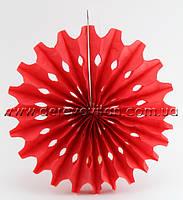 Подвесной бумажный веер, красный, 50 см