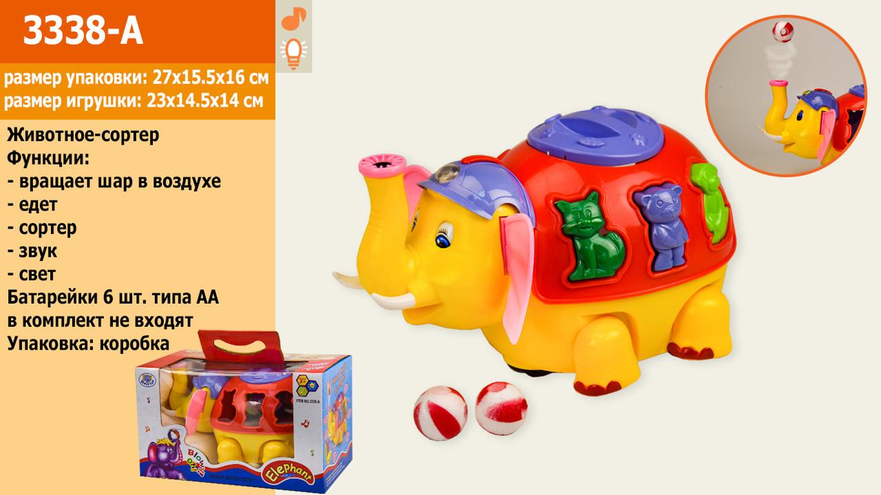 Музичний сортер слоник, в коробці 27*15,5*16 см