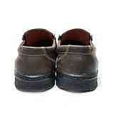 Мужские кожаные туфли прошитые коричневые BASTION (Бастион), фото 7