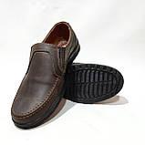 Мужские кожаные туфли прошитые коричневые BASTION (Бастион), фото 2