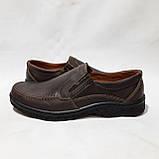 Мужские кожаные туфли прошитые коричневые BASTION (Бастион), фото 5