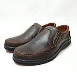 Мужские кожаные туфли прошитые коричневые BASTION (Бастион), фото 3