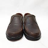 Мужские кожаные туфли прошитые коричневые BASTION (Бастион), фото 4