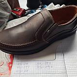 Мужские кожаные туфли прошитые коричневые BASTION (Бастион), фото 9