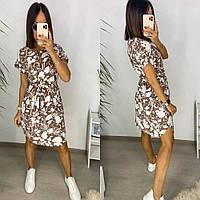 Женское легкое летнее платье с разрезами по бокам
