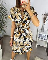 Сукня з квітковим принтом літня жіноча (ПОШТУЧНО), фото 1