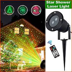 Лазерный проектор Holiday laser Laser Light с пультом \ Star Shower Картинки + звёздочки