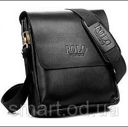 Чоловіча сумка Polo Videng / в стилі Поло / еко шкіряна сумка / сумка через плече