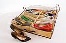 Компактный органайзер для хранения обуви ШузАдер сортировка хранение Shoes Under 12 пар обувная полка складной, фото 3