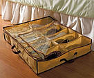 Компактный органайзер для хранения обуви ШузАдер сортировка хранение Shoes Under 12 пар обувная полка складной, фото 7