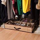 Компактный органайзер для хранения обуви ШузАдер сортировка хранение Shoes Under 12 пар обувная полка складной, фото 10