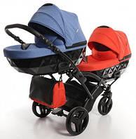 Junama Diamond Duo Slim функциональная коляска для двоих детей