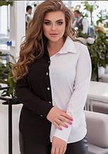 """Женская двухцветная блуза """"Nikita""""  размер 50-52 В И"""