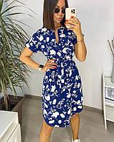 Платье с цветочным принтом летнее женское (ПОШТУЧНО), фото 1