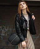 Стильная женская белая сумка кроссбоди с длинным ремешком через плечо матовая экокожа, фото 8
