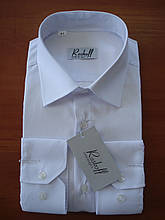 Мужская рубашка белая с длинным рукавом