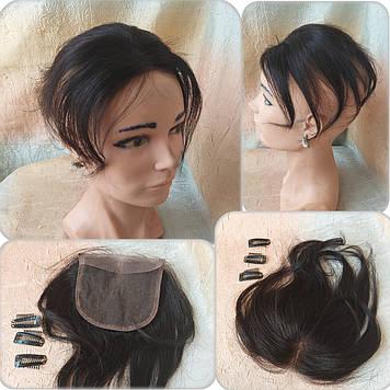 "Накладка на макушку, моно-система из натуральных волос MONO8""/2"