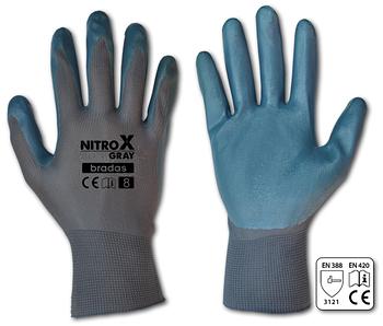 Рукавички захисні NITROX GRAY нітрил, розмір 8, RWNGY8