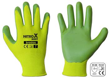 Рукавички захисні NITROX MINT нітрил, розмір 7, RWNM7