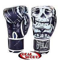 Рукавички боксерські Everlast Skull BO-5493-BK на липучці