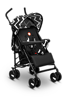 Прогулочная коляска для девочки мальчика детская Летная немовлят Lionelo ELIA OSLO BLACK/WHITE Польская