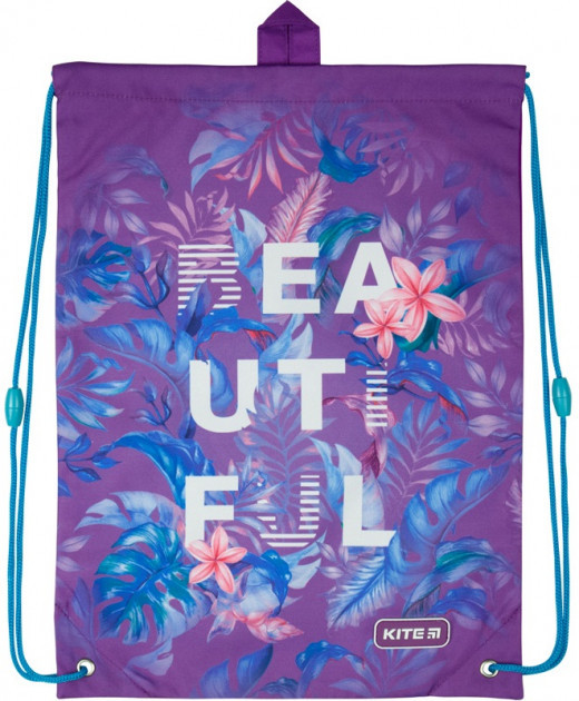 Сумка для обуви Kite Education Beautiful Tropics 46x33 см Фиолетовая (K20-600M-15)