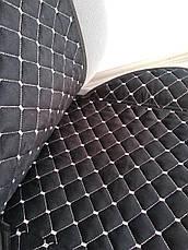Накидки на сиденья авто из АЛЬКАНТАРЫ (искусственной замши). Серая строчка. Комплект, фото 2