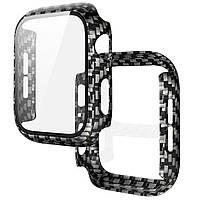 Чехол со стеклом для Apple Watch 44 mm | DK | поликарбонат | black carbon