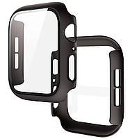 Чехол со стеклом для Apple Watch 40 mm | DK | поликарбонат | черный