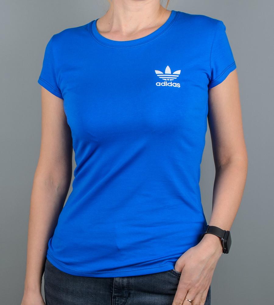 Футболка женская спортивная Adidas (2111ж), Электрик