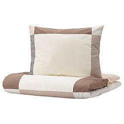 IKEA BRUNKRISSLA  Комплект постельного белья, коричневый (004.907.20)