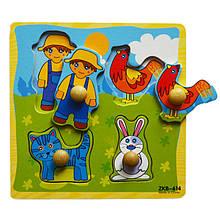 Дерев'яна іграшка WD599 вкладиші (Село)
