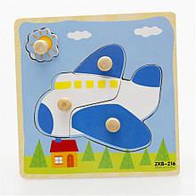 Дерев'яна іграшка WD599 вкладиші (Літак)