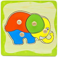 Дерев'яна іграшка WD599 вкладиші (Слоник)