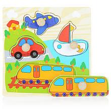 Дерев'яна іграшка WD599 вкладиші (Транспорт)