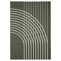 IKEA TÖMMERBY  Ковролин, тканый, внутри / снаружи, темно-зеленый / кремовый (004.952.04)