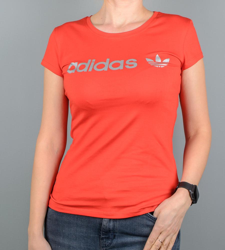 Футболка женская спортивная Adidas (2017ж), Красный
