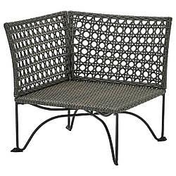 IKEA JUTHOLMEN  Уголок, садовая часть, темно-серо-коричневый (804.691.16)