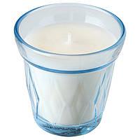 IKEA VÄLDOFT Ароматическая свеча в стекле, голубой / голубой (104.677.43)