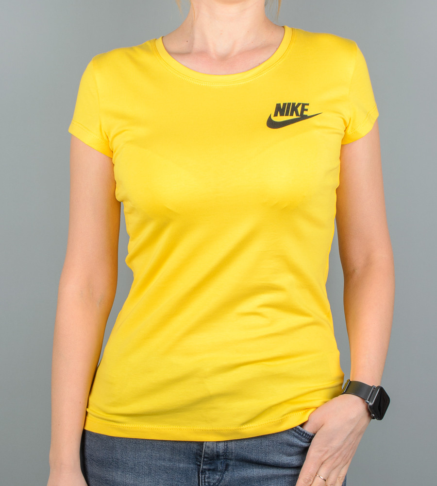 Футболка женская спортивная NIKE (2109ж), Желтый