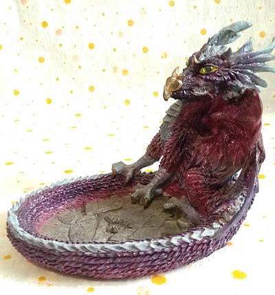 "Пепельница ""Дракон"" керамика, фото 2"