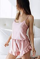 Пижама женская, розовая, с-м