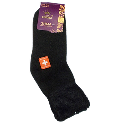 Шкарпетки термо ангора і шерсть без гумки 36-41 чорні