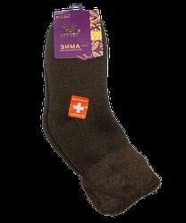 Шкарпетки термо ангора і шерсть без гумки 36-41 коричневі