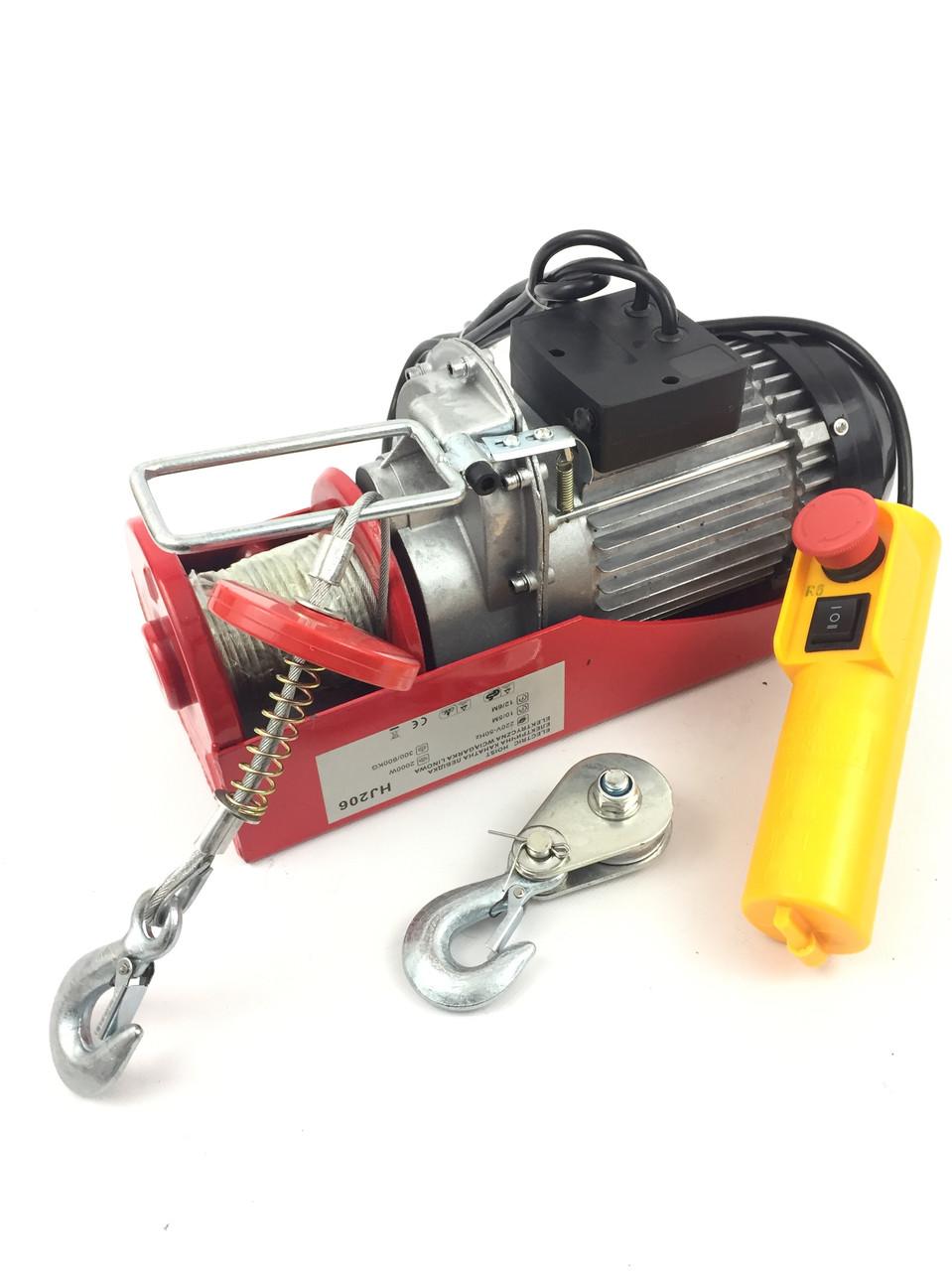 Электрический тельфер 300/600 кг (HJ206)