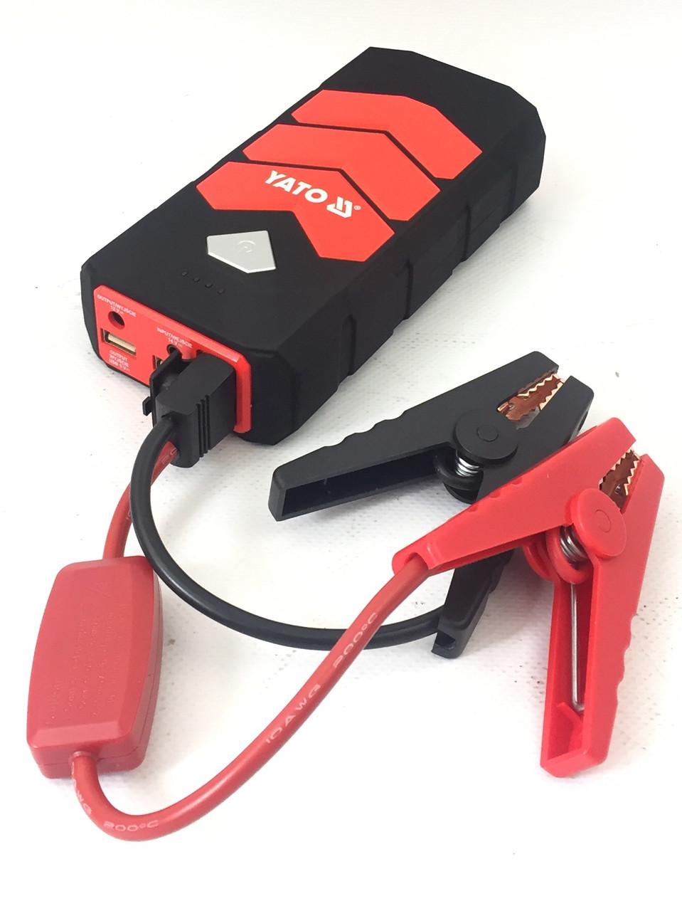 Портативний пусковий пристрій 9000 мА*ч + Power Bank + LED ліхтар YATO Польща (YT-83081)