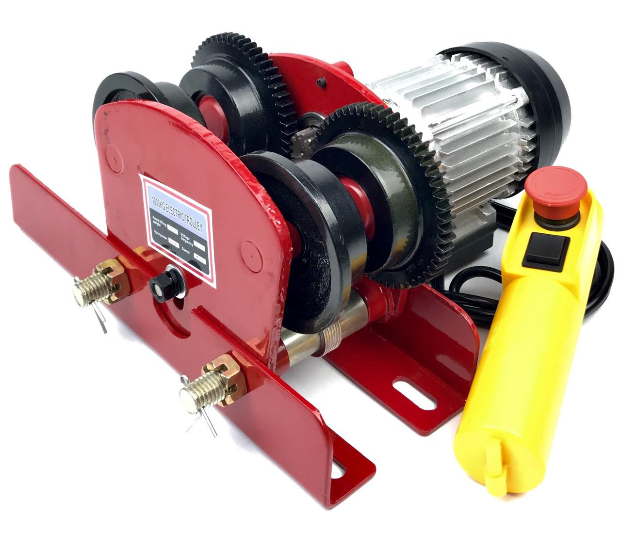 Электрическая каретка тележка для тельфера Euro Craft 1000 кг