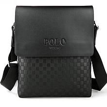 Мужская сумка через плечо Polo Videng поло Черная 28x22x4 5 ViPvse