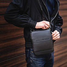 Мужска сумка через плечо барсетка Georgio Armani армани Черная ViPvse